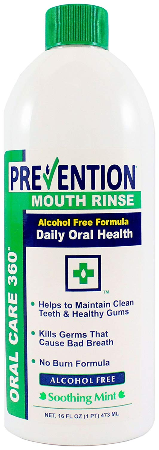 16 oz Prevention Antibacterial Non Alcohol Mouth Rinse 1 Doctor Recommended