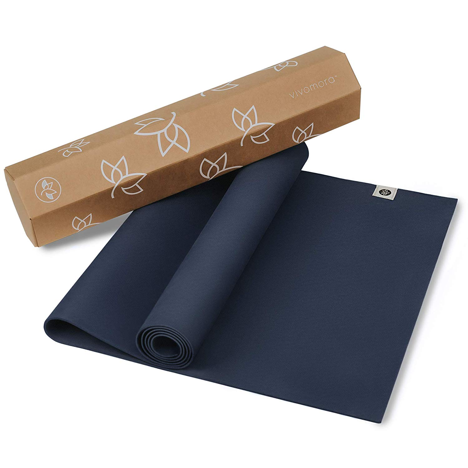 Eco Friendly Yoga Mat   Natural Rubber   with  Non Slip Pattern  for  Meditation Stretching Fitness   Multipurpose Hot Yoga Pilates and Exercise Mats  for  Men and Women     In Home Gym Access