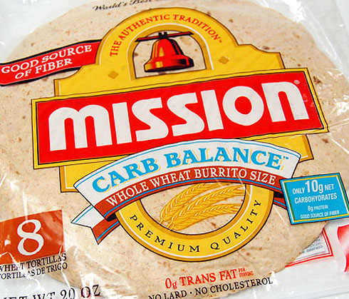 Fiber Bomb! Mission 10″ Carb Balance Whole Wheat Tortillas